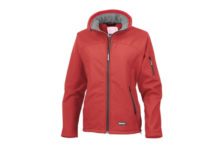 Result Ladies/Womens La Femme® Softshell Breathable Jacket (Red & Contrast Collar) (XS)