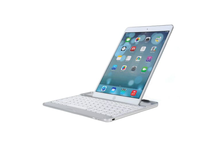 Aluminum Bluetooth Wireless Keyboard Cover CaseFor iPad Air-White