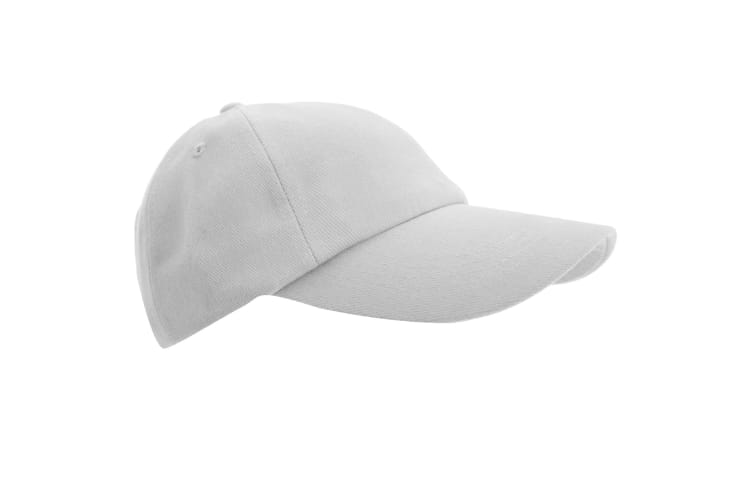 Result Unisex Low Profile Heavy Brushed Cotton Baseball Cap (Pack of 2) (White) (One Size)