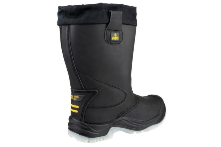 Amblers Steel FS209 Safety Pull On / Mens Boots / Riggers Safety (Black) (14 UK)
