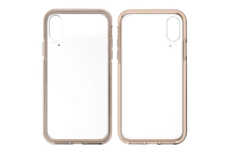 EFM Aspen D3O Case Armour Mobile Protective Cover for Apple iPhone XR Clear/Gold