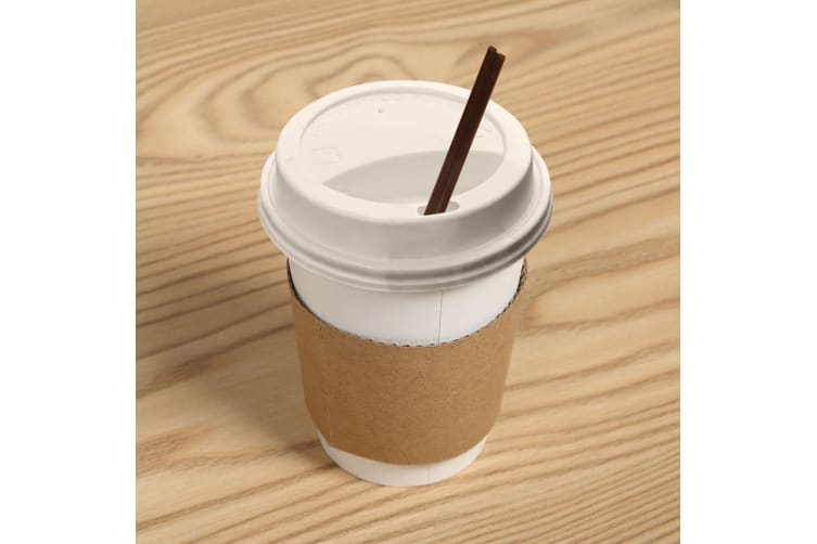 110/220/440x Disposable White Paper Coffee Cups 360ML/12oz Takeaway Hot/Cold  -  220 Set