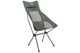 Trespass Roost Tall Lightweight Folding Chair (Olive) (One Size)