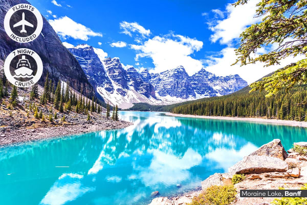 ALASKA & CANADA: 14 Day Alaska Cruise & Canadian Rockies Tour Including Flights For Two (Inside Cabin)