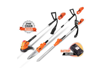 BlackEagle 40V Lithium Pole Chainsaw Hedge Trimmer Battery Saw Electric Cordless