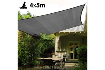 Wallaroo Rectangular Shade Sail 4m x 5m - Grey
