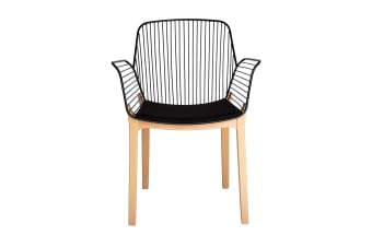 Kyoto Dining Chair | Black & Natural