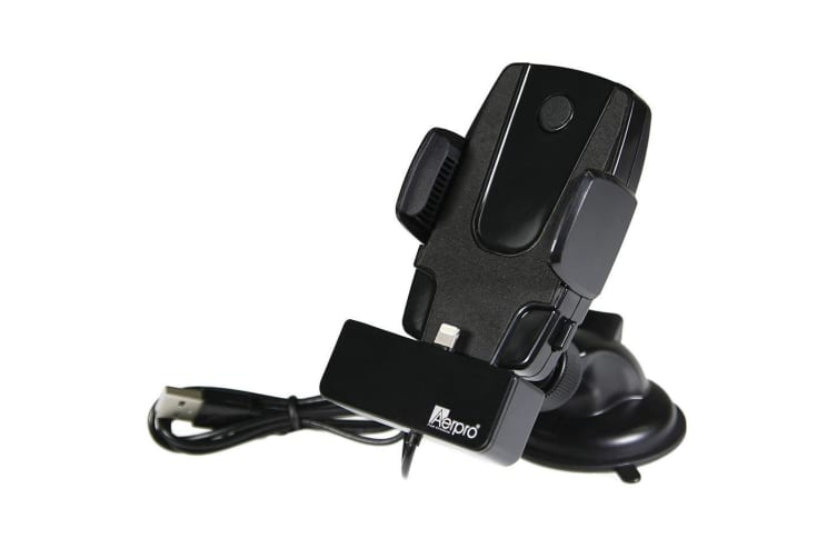 Aerpro Simple Dock Car Charger/Holder for iPhone Suction Mount w Lightning Cable