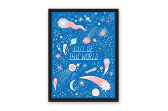 Ohh Deer Out Of This World A3 Riso Print (Blue/White/Orange) (One Size)