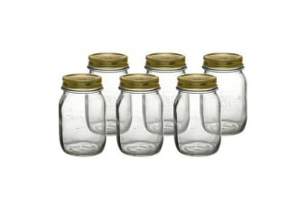 Bormioli Rocco Quattro Stagioni Storage Jars 500ml 6pc Set