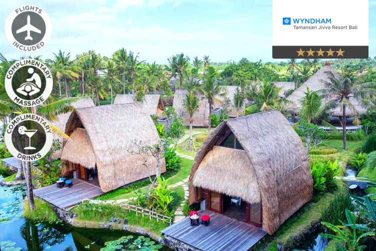 BALI: 5 Nights at Wyndham Tamansari Jivva Resort Bali Including Flights For Two (Departing SYD/MEL/BNE/ADL)