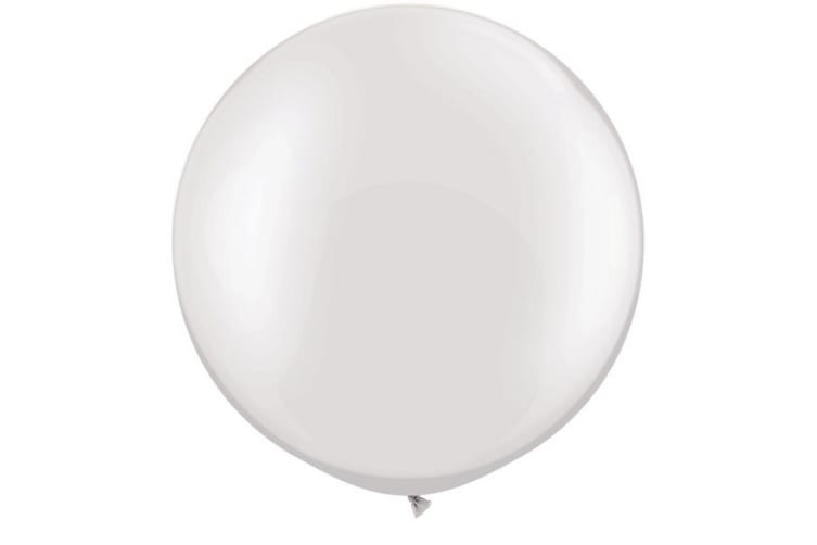 Qualatex 5 Inch Plain Latex Party Balloons (Pack Of 100) (48 Colours) (Pearl White) (One Size)
