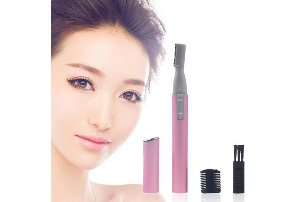 Electric Travel Eyebrow Nose Ear Hair Body Trimmer Remover Lady Shaver Razor Blade