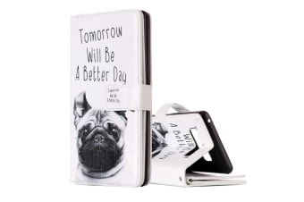 """For Samsung Galaxy Note 8 Wallet Case """"Lap Dog"""" Stylish Leather Protective Cover"""