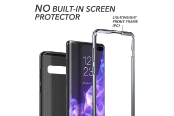 YOUMAKER Samsung Galaxy S10 Plus Crystal Clear Shockproof Full-body Case Cover-Black