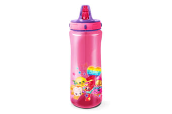 Shopkins Official Rainbow Celebration Europa Plastic Water Bottle (Pink) (One Size)