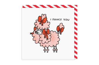 Ohh Deer I Fancy You Square Greeting Card (Multicoloured) (One Size)