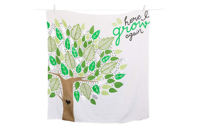 Lulujo Here I Grow Again Baby's First Year Blanket and Cards Set