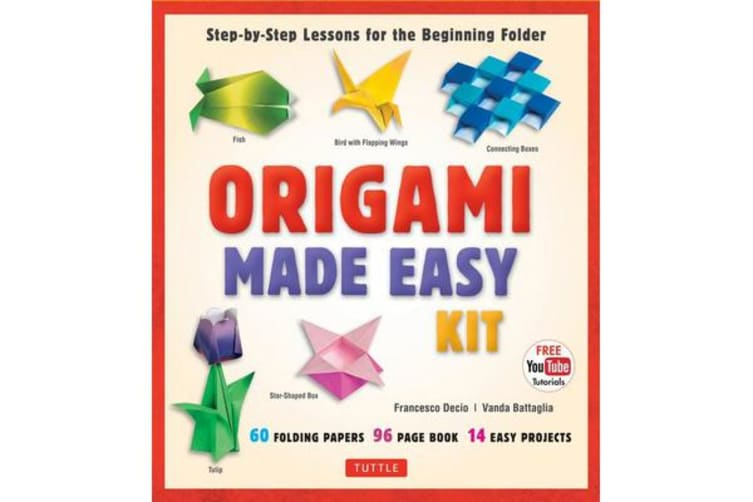 Origami Made Easy Kit - Step-By-Step Lessons for the Beginning Folder