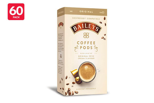 60 Pack Baileys Original Nespresso Compatible Coffee Pods