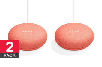 Google Home Mini (Coral) - 2 Pack