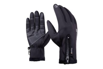 Ski Gloves Cycling Gloves Touchscreen,Double Layer Waterproof Winter Gloves M