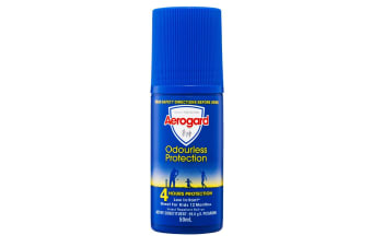 Aerogard 50ml Adults/Kids Odourless Insect Repellant Roll On 4h Protection 12m+