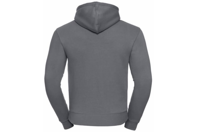 Russell Mens Authentic Hooded Sweatshirt / Hoodie (Convoy Grey) (L)