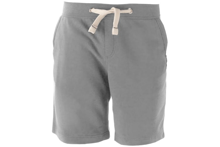Kariban Mens Fleece Sports Shorts (Oxford Grey) (S)