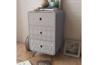 vidaXL Side Cabinet with 3 Drawers Grey
