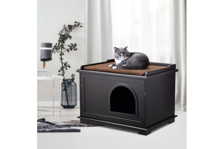 Dick Smith Wooden Pet House Cat Enclosure Decorative Litter Box