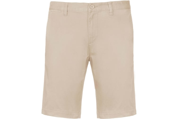 Kariban Mens Chino Bermuda Shorts (Beige) (S)