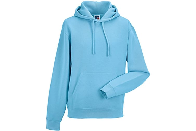 Russell Mens Authentic Hooded Sweatshirt / Hoodie (Sky Blue) (S)