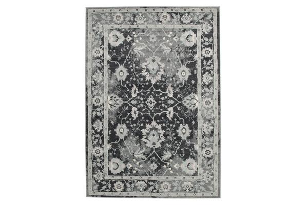 Nain Persian Design Rug Navy Blue Grey 330x240cm