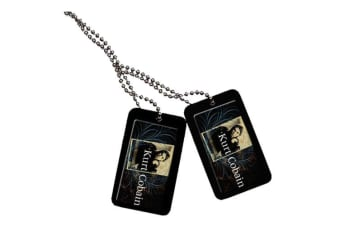 Kurt Cobain Dogtags - Blue Swirls