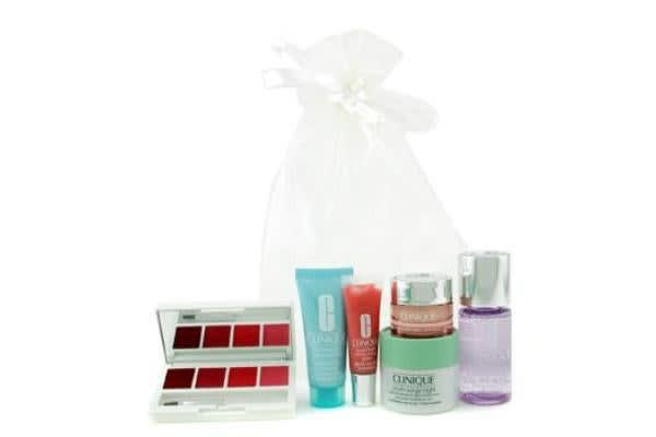Clinique Travel Set: MU Remover + Turnaround Concentrate + Youth Surge Night + All About Eyes + Gloss + Lipstick Palette (6pcs)