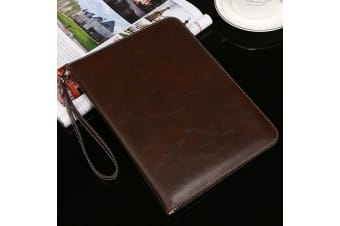 Genuine Luxury Leather Case Cover for Apple iPad 10.2 2019 7th Gen-Coffee