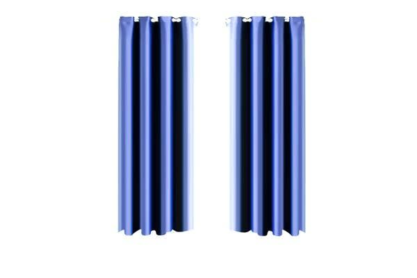 1 Pair Blockout Curtains Panels BLUE 140X230cm