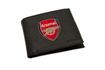Arsenal FC Embroidered Wallet (Black) (One Size)