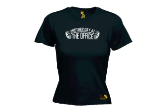 SWPS Gym Bodybuilding Tee - Another Day At The Office - Black Womens T Shirt