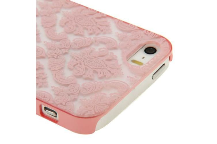 For iPhone SE 5S 5 Case Modern Mystical Flowers Durable Shielding Cover Pink