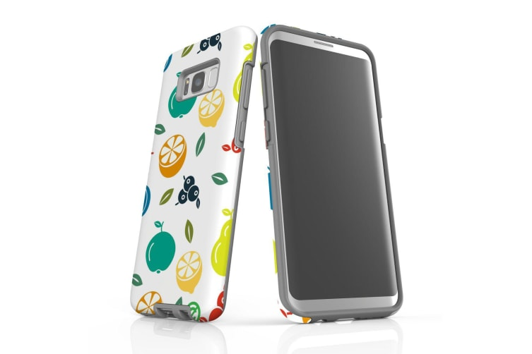 For Samsung Galaxy S8+ Plus Case  Armour Tough Cover  Fruit Assortment