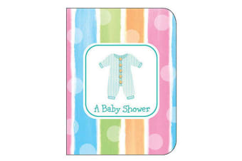 Creative Converting Baby Shower Invitations With Envelopes (Pack of 8) (Multicoloured)