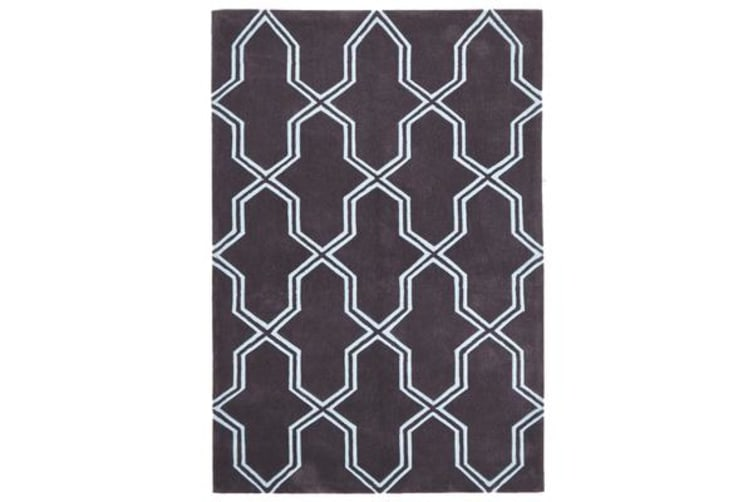 Neo Lattice Design Rug Smoke 280x190cm