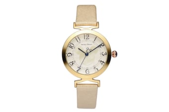 Select Mall Creative Belt Girl Watch Fashion Simple Cute Mickey Quartz Watch Stainless Steel and Leather Casual Quartz Watch-Gold
