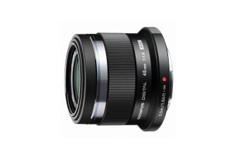 Olympus M.Zuiko Digital 45mm f1.8 Lens (Black)