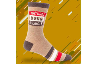 Natural Born Assh#le Mens Cotton Crew Socks | BlueQ