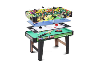Air Hockey/Pool/Snooker Table/Table Tennis/Table Soccer Games Table - 4 in 1