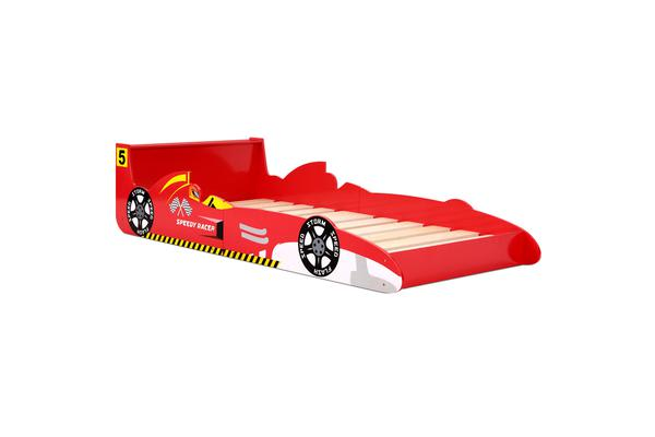 Single Size Racing Car Bed Frame (Red) - Kogan.com