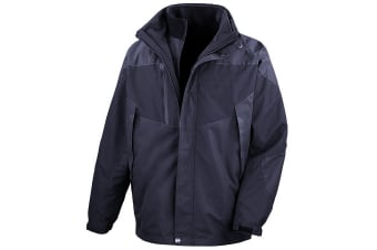 Result Mens 3-in-1 Aspen Performance Jacket (Waterproof  Windproof & Breathable) (Navy/ Navy)